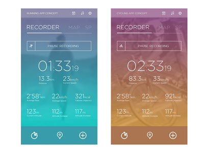 Running / Cycling App Concept