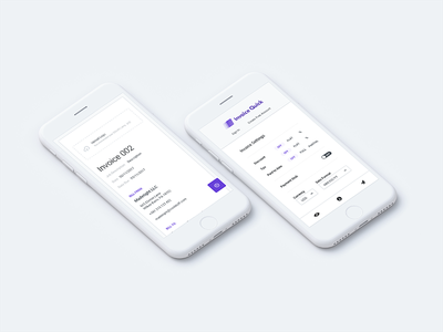 Invoicequick responsive preview settings responsive ios business app paper clean finance design ux ui invoice