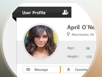 User Profile for Dating Site