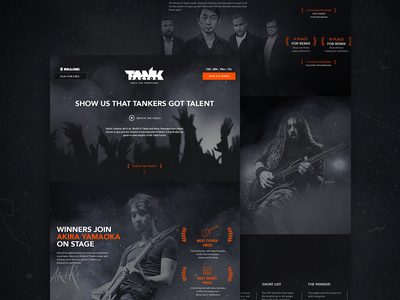 Tank Factor competition wot world of tanks website music web ux ui tanks landing interface contest competition