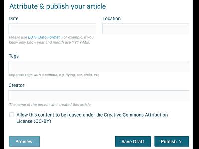 Inline article editing wysiwyg editing ui ux