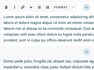 Inline article editing wysiwyg editing ui ux