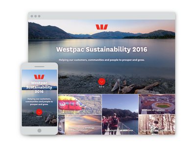 Westpac Sustainability Report 2016 animation responsive sustainability