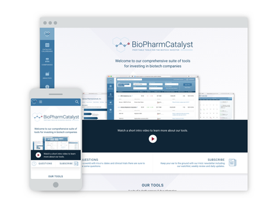 BioPharmCatalyst tables mobile data investing