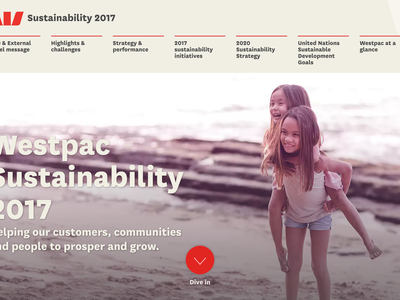 Westpac Sustainability Report 2017 sustainability responsive animation
