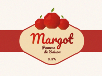 Margot label cider