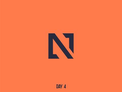 Day 4 Single Letter N mark flat dailylogochallenge branding logo