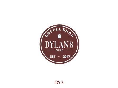 Day 6 Dylan's Coffee mark flat dailylogochallenge branding logo