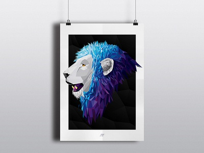 Lion Illustration Poster