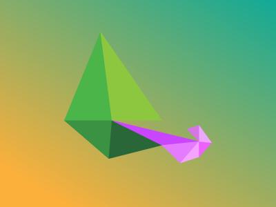 Chameleon / 10 triangles challenge chameleon graphic polygons triangles illustration challenge