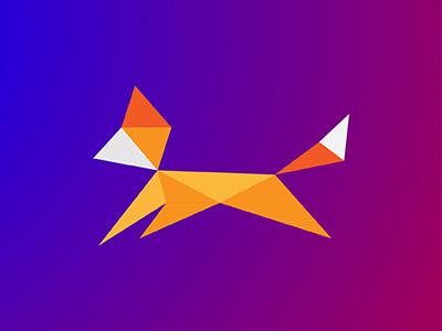 Fox / 10 triangles challenge inspiration icon polygons triangles illustration fox