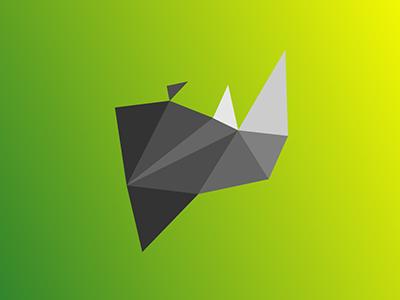 Rhino / 10 triangles challenge inspiration animals illustration polygons triangles rhinoceros rhino