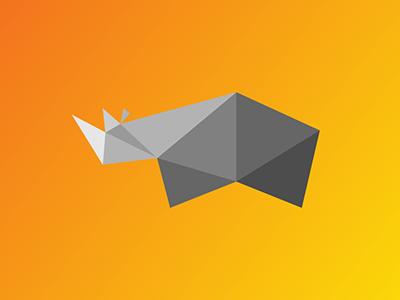 Rhino v2 / 10 triangles challenge inspiration animals illustration polygons triangles rhinoceros rhino