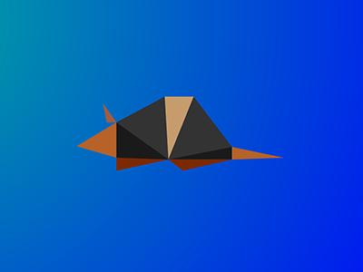 Armadillo / 10 triangles challenge inspiration polygons triangles illustration armadillo