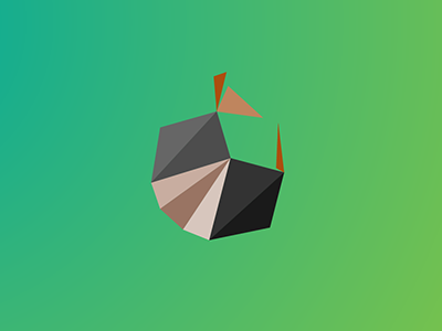 Armadillo v2 / 10 triangles challenge inspiration polygons triangles illustration armadillo