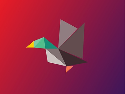 Duck / 10 triangles challenge inspiration animals illustration polygons triangles duck