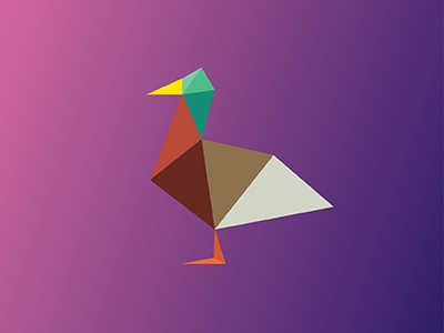 Duck  v2 / 10 triangles challenge inspiration animals illustration polygons triangles duck