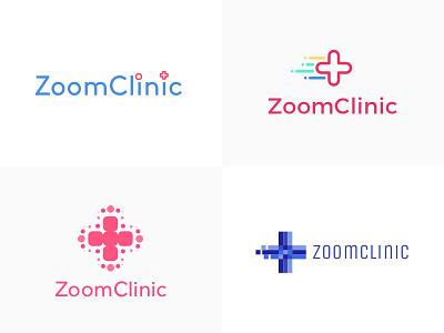 ZoomClinic Logo Designs app hospital calendar fast doctor clinic icon vector design logo