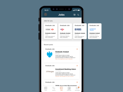Job Search App UI Concept