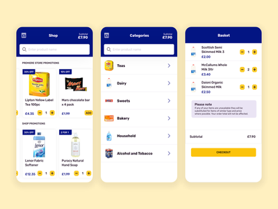 Online Grocery Shopping app colour palette icons inspiration app design uidesign application app concept interface dailyui uiux app ui online shopping grocery online app