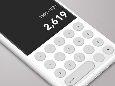 Calculator Concept UI geometric creative concept product iphonex android dailyux dailyui inspiration userinterface user experience ux ui calculator