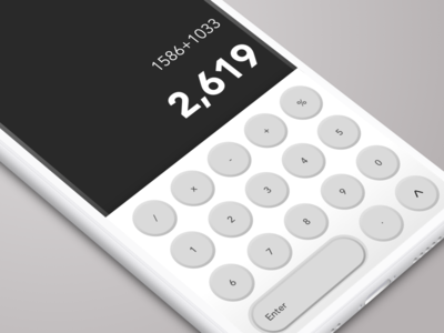 Calculator Concept UI