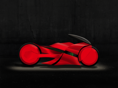Bike 006  illustration motorcycle sportbike tron akira anime digital painting