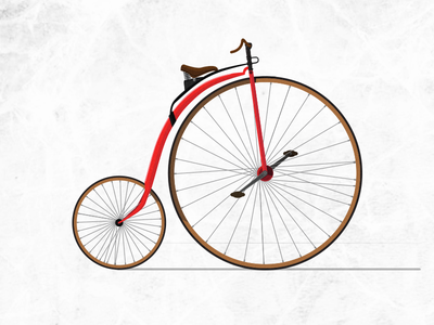 Penny Farthing penny farthing bicycle bike illustration