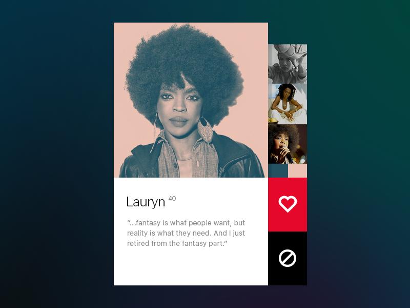User Profile lauryn hill user profile ui dailyui