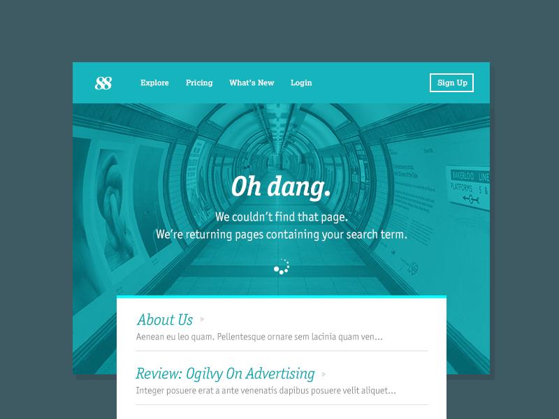 404 Page ui 404 dailyui