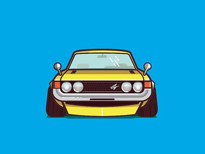 72' Toyota Celica GT daruma auto automobile car illustration celica toyota