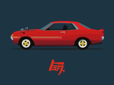 TEQ illustration car cars toyota teq celica automobile
