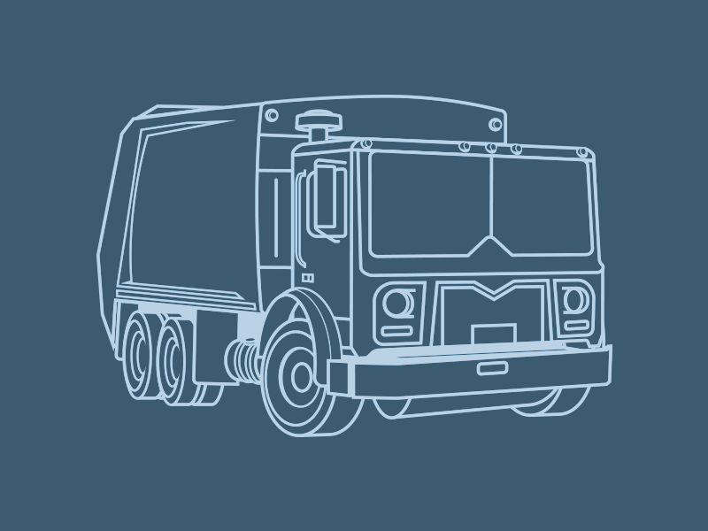 Pure Garbage mack garbage autos truck illustration