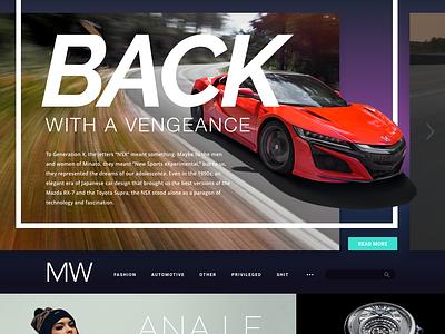 Minus Whale gradients nsx carousel website grid web layout ui
