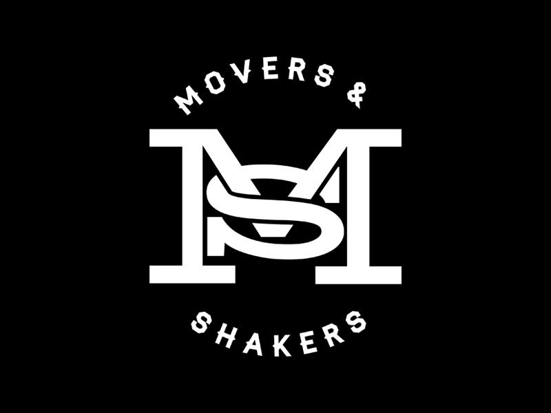 Movers & Shakers Concept Logo monogram logo