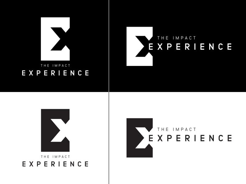 EXP logo design contrast branding logo design cutout blackandwhite experience