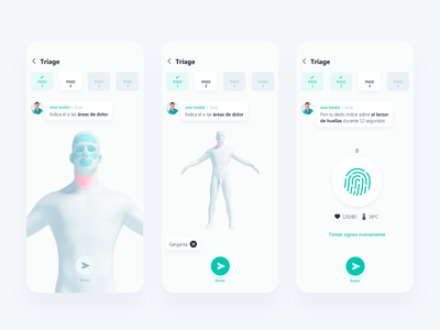 Health  chat - Triage concept ui app patient chat doctor care diseases health app health