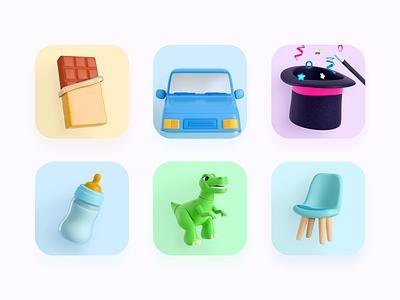 Rappi's business lines - 2 colors chocolate chair dinosaur magic joyful 3d toy