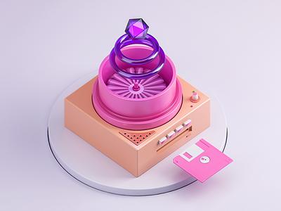 Here we go! - Color Machine color diskette retro machine purple cristal wireless