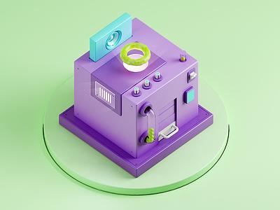 Color Machine - Bubble Gum bubble gum candy machine isometric color 3d materials