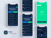 Upay App - Dark theme