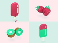 Paper fruits