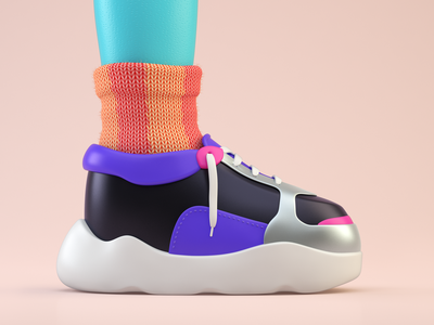 Dad's socks illustration c4d colors 3d socks sneakers sock shoes fashion shoe