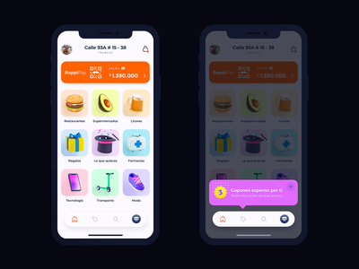 Rappi's home - Concept variety home mobile delivery 3d app food