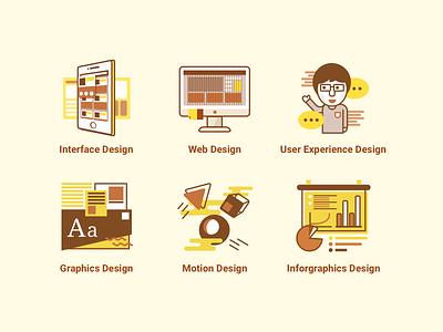 Design Abilities icons design illustrations icons