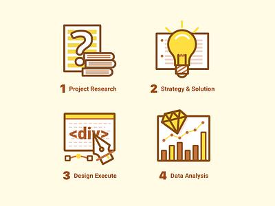 Design Flow design illustrations icons