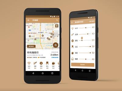 Cafe Finder - App mockup cafe app mobile ux ui