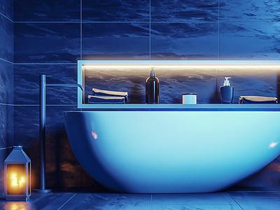 Black Bathroom concept design interior architecture interior design interior archviz  interior archviz architechture illustration