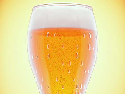 Glass of beer studio portfolio conept visualization product illustration cycles design blender3d material