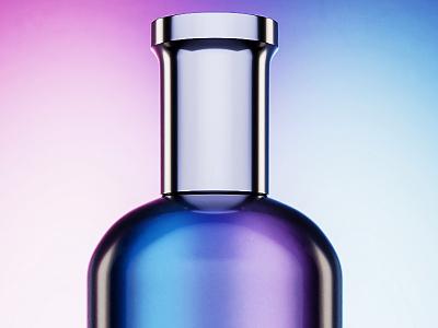 Perfume bottle materials render light concept photography product visualization blender